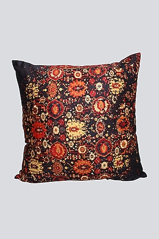 Multi Colored Cushion Cover With Intricate Design by Karo