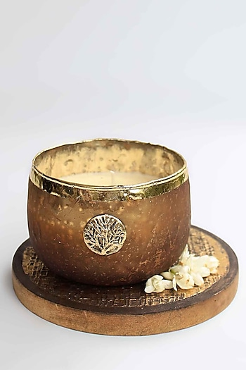 Brown Zunaira Luxury Bowl Votive by Karo