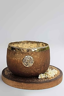 Brown Zunaira Luxury Bowl Votive by Karo