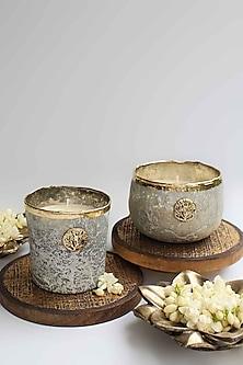Grey Zunaira Luxury Bowl Votive by Karo