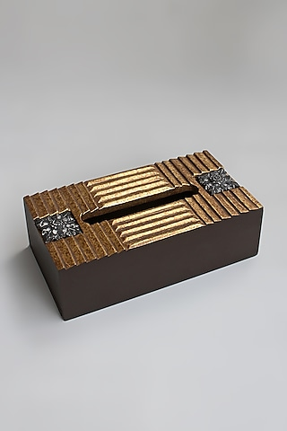 Gold Handcrafted Tissue Box by Karo