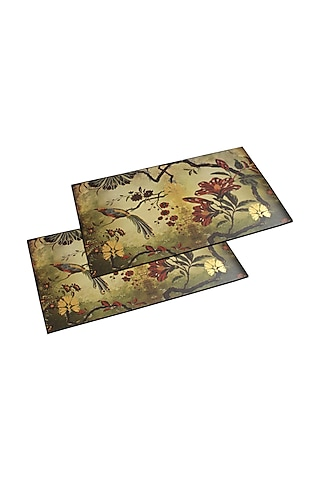 Beige Luxurious Placement Mats (Set of 6) by Karo