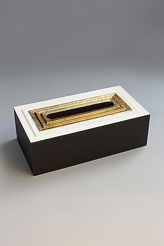 White Artisan Tissue Box by Karo