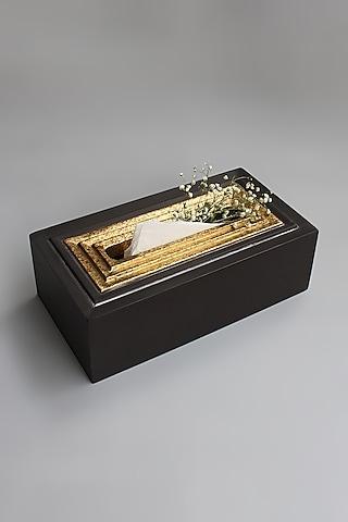 Brown Artisan Tissue Box by Karo