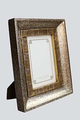 Silver Double Textured Photo Frame by Karo