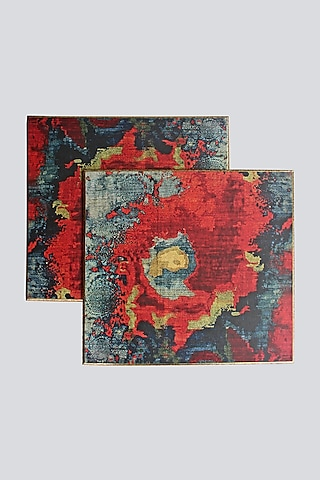Multi Colored Placement Mats (Set of 2) by Karo