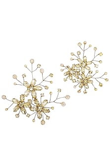 Champagne Gold Rapunzel Crystal Hairpins by Karleo