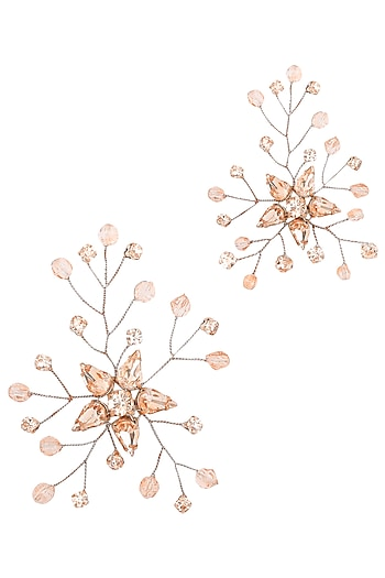 Rose Gold Ariel Crystal Hairpins by Karleo