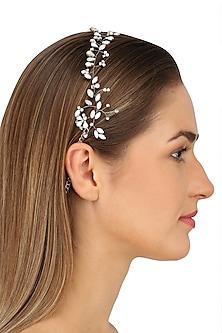 Pegasus Snow White Crystal Embellished Headpiece by Karleo