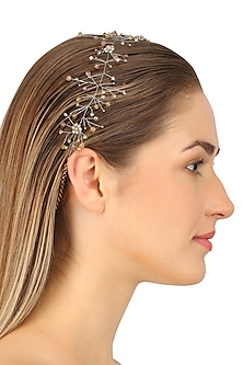 Hydra Champagne Gold Crystal Embellished Headpiece by Karleo
