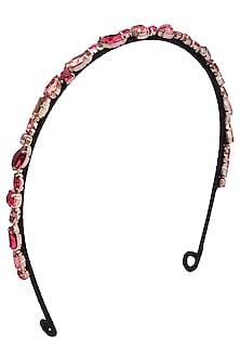 Ruby, Rose, and Vintage Rose Crystal Embellished Headband by Karleo