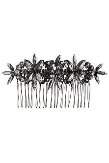 Black Diamond Crystal Embellished Haircomb by Karleo