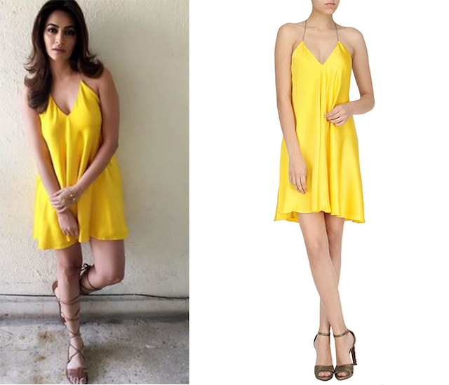 Yellow A-Line Backless Dress by Deme by Gabriella