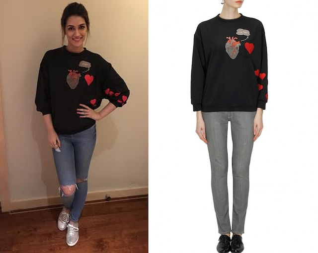 "Black ""u are fake"" heart sweatshirt by Shahin Mannan"