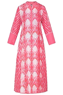 Coral Printed Tunic by Krishna Mehta