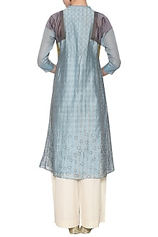 Sky blue embroidered tunic by KRISHNA MEHTA