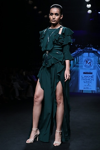 Forest Green Jumpsuit by Karn Malhotra