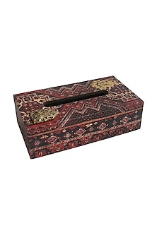 Multicolor Wooden Koliai Tissue Box by Karo