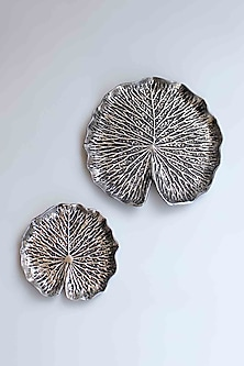 Silver Lotus Leaf Wall Sconce (Set of 2) by Karo