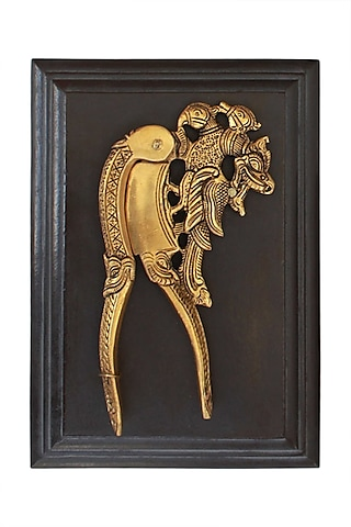 Golden Parrot Nut Cutter In Brass by Karo