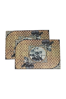 Brown Aafreen Wooden Placement Mat (Set Of 6) by Karo