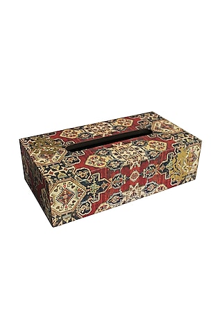 Multi Colored Printed Tissue Box by Karo