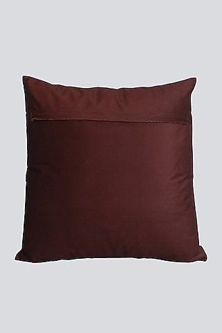 Multi Colored Velvet Cushion Cover With Intricate Design by Karo