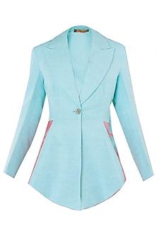 Sky Blue Overlap Jacket by Kritika Universe