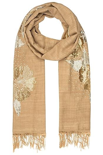 Tea petunia motif scarf  by Kritika Universe