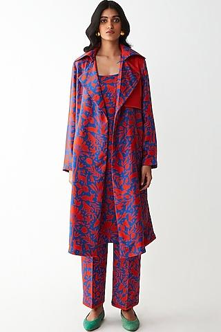 Blue Digital Printed Jacket by Kshitij Jalori