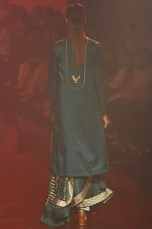 Emerald Green Banarasi Saree by Kshitij Jalori