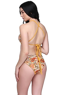 Mustard Printed Gilli Bikini Set by SALT SKIN