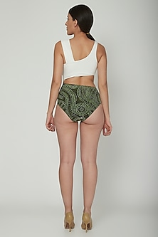 Olive Green Animal Printed Swimsuit by SALT SKIN