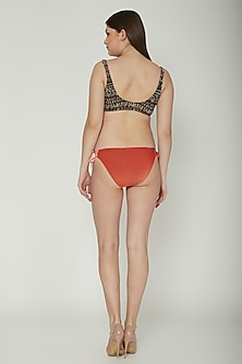 Brown Tribal Printed Bikini Set by SALT SKIN