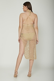 Nude Metallic Crochet Cover-Up by SALT SKIN