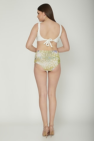White Ruched Bikini Set by SALT SKIN