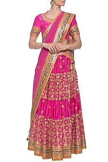Pink embroidered lehenga set by RANA'S by Kshitija-SHOP BY STYLE