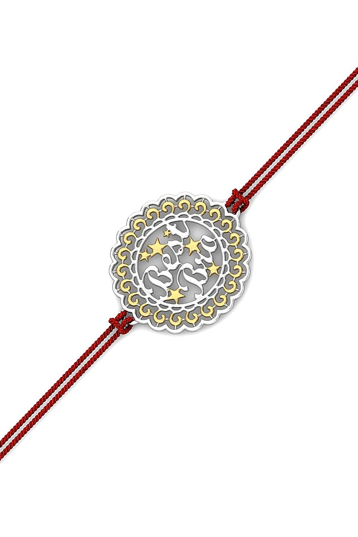 Silver Motifs Best Bro Bracelet Rakhi In Sterling Silver by KuberBox