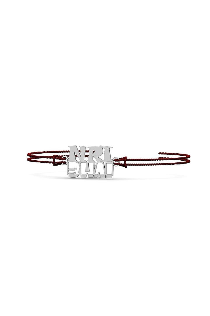 Silver Bracelet Rakhi In Sterling Silver by KuberBox