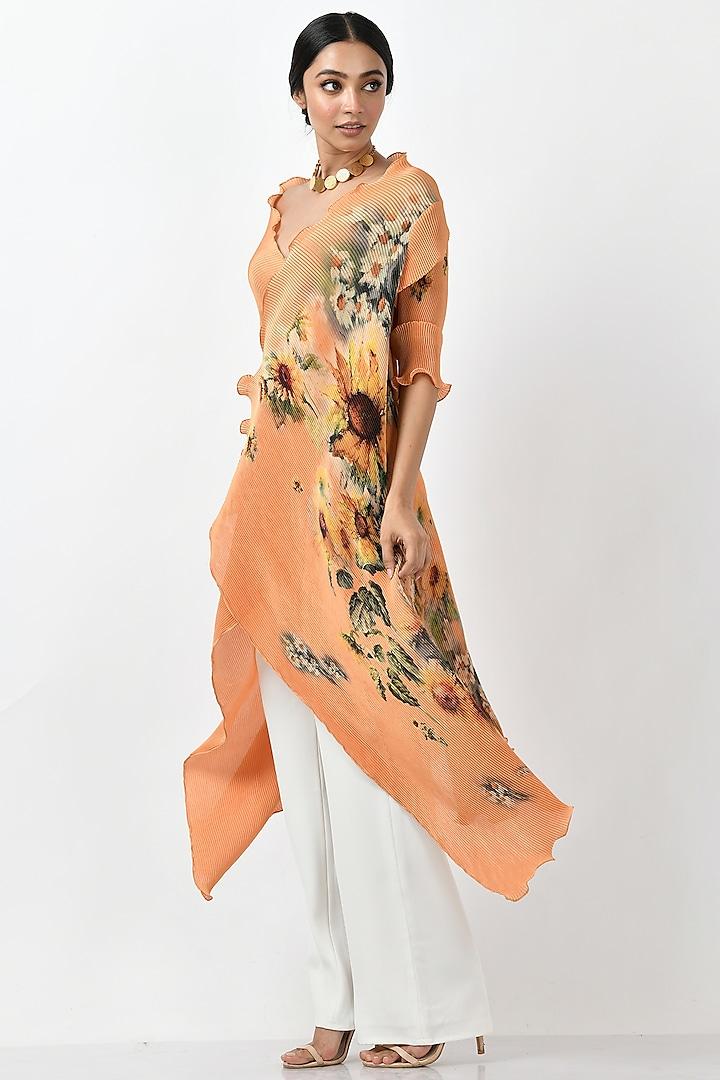 Mango Sunflower Printed Wrap by Kiran Uttam Ghosh