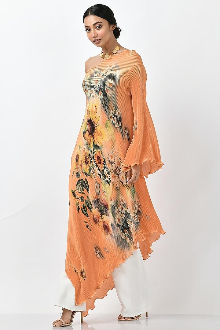 Mango Printed One-Shoulder Dress by Kiran Uttam Ghosh