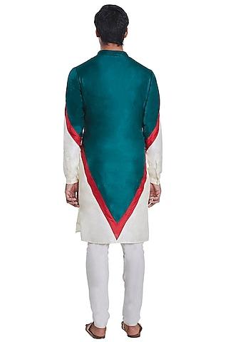 Multi Colored V-Block Kurta by Kunal Rawal