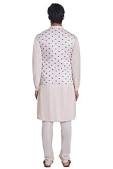 Blush Pink Sleeveless Jacket by Kunal Rawal