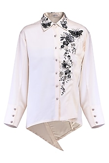 Ivory asymmetrical shirt by KUKOON