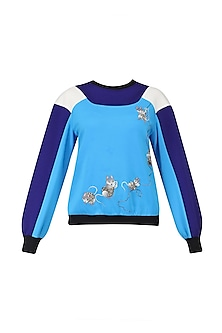 Blue Double Shade Sweatshirt by Kukoon