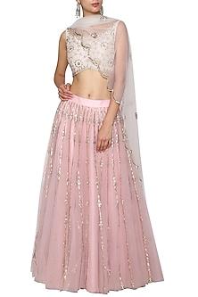 Pink Embroidered Lehenga Set by Kudi Pataka Designs