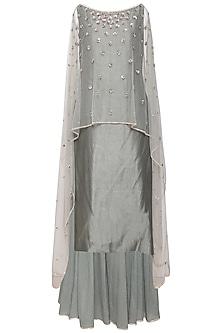 Greyish Green Kurta Set by Kudi Pataka Designs