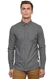 Grey Vintage Buttoned Shirt by LACQUER Embassy