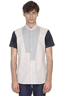 Multi Colored Cotton Shirt by LACQUER Embassy