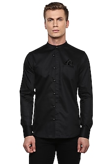 Black Safari Shirt by LACQUER Embassy